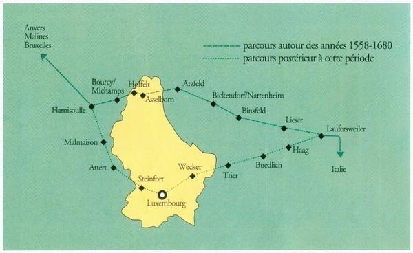 Map at Musée du Relais Postal